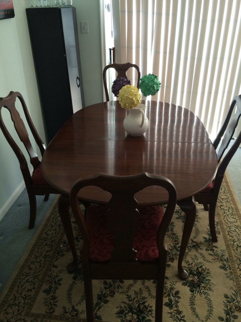 letgo cherry oval dining room table pen in fairfax va