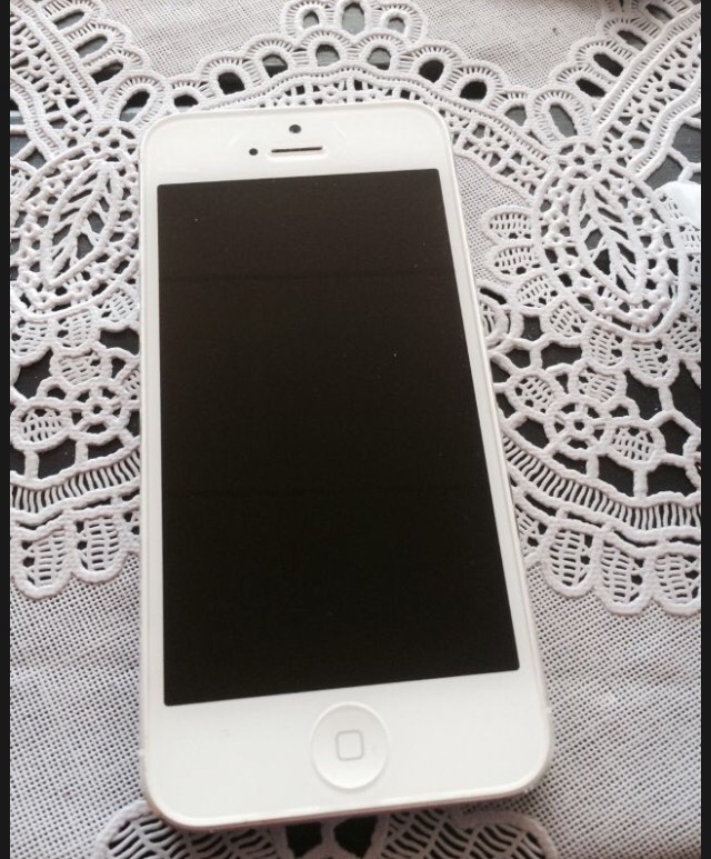 hvit iphone 5