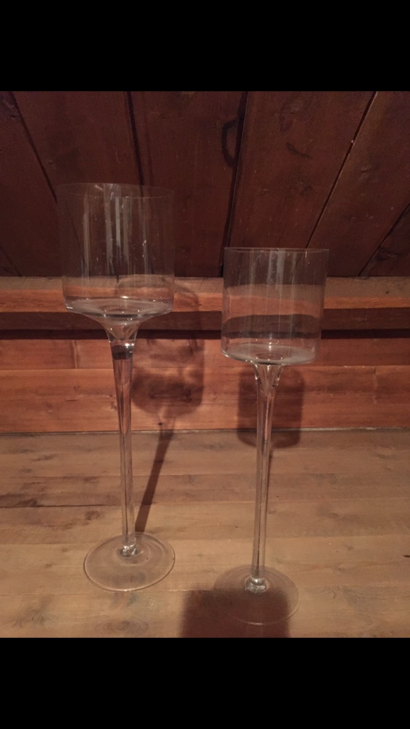 2 klart lang stamme glass cup