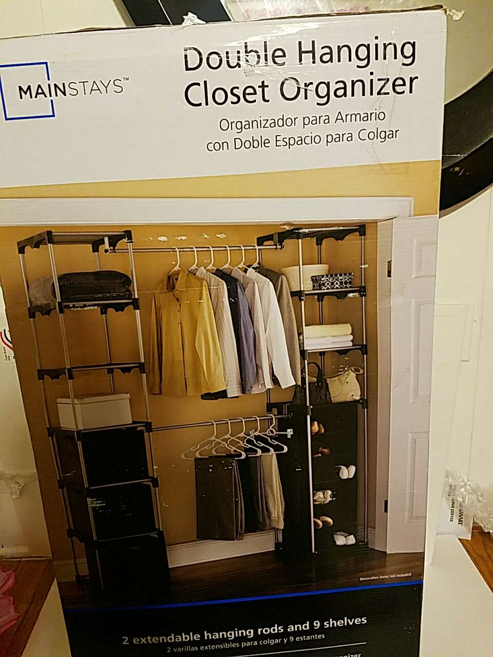 letgo mainstays double hanging clos in pardeesville pa. Black Bedroom Furniture Sets. Home Design Ideas