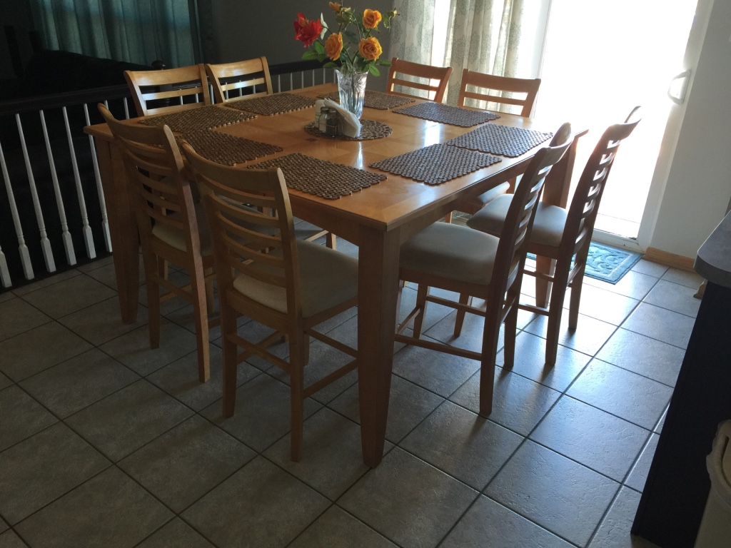 Letgo Brown Wooden Square Dining Table In Plainfield IL