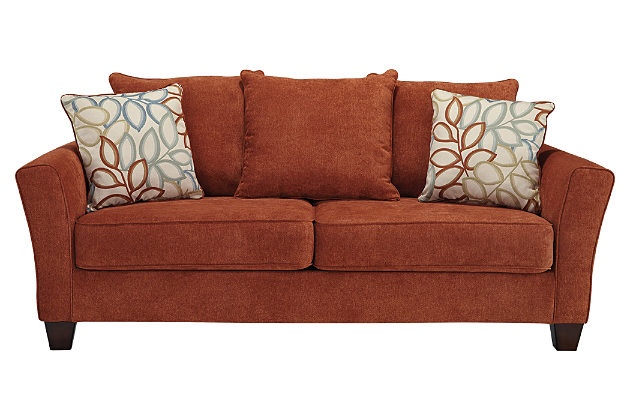 Letgo Rust Colored Queen Sofa Bed In Charlestown Ma