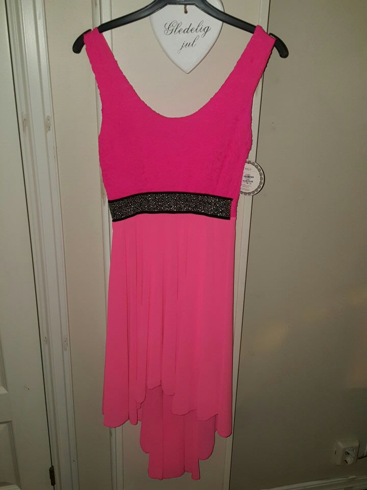 women's pink and black dress