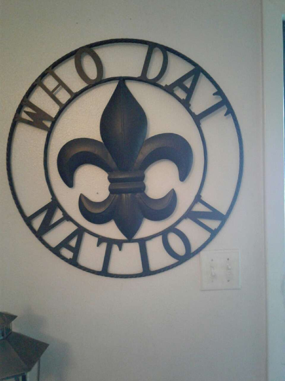 Letgo who dat nation steel black wall decor in algiers la for Decor nation