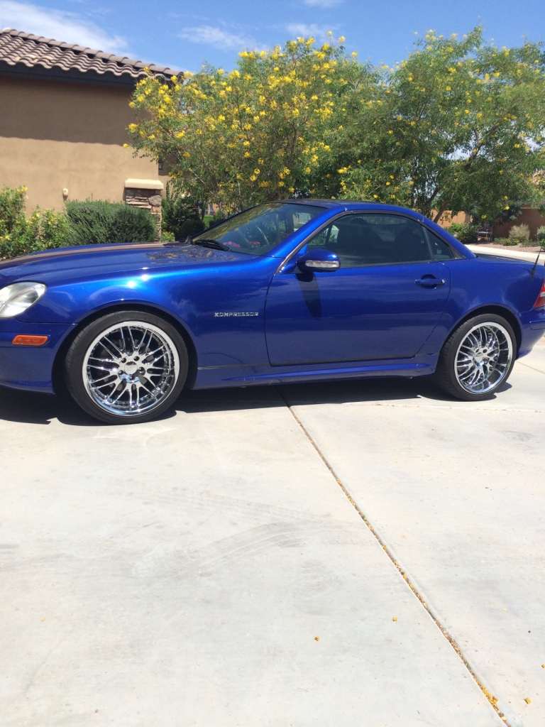 Letgo 2001 mercedes benz slk blue conv in chandler az for Mercedes benz of chandler arizona