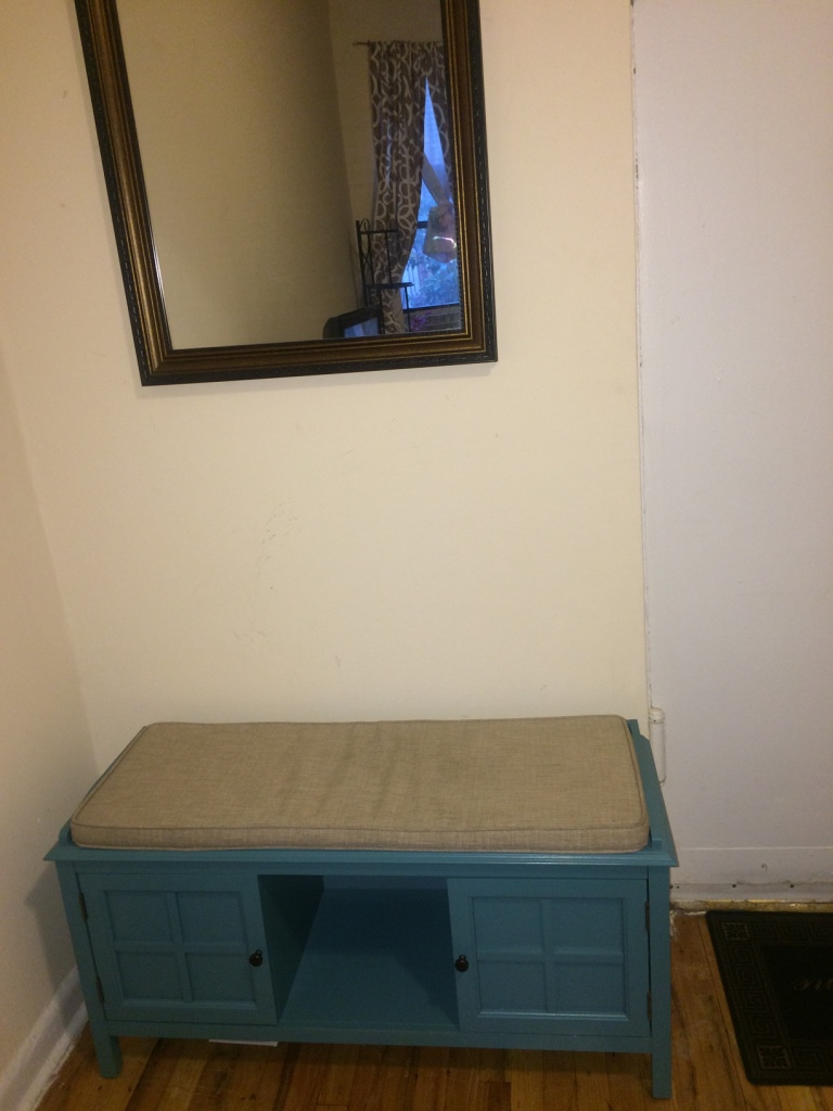 Foyer Seating Nyc : Letgo teal entryway bench in lincolnton ny