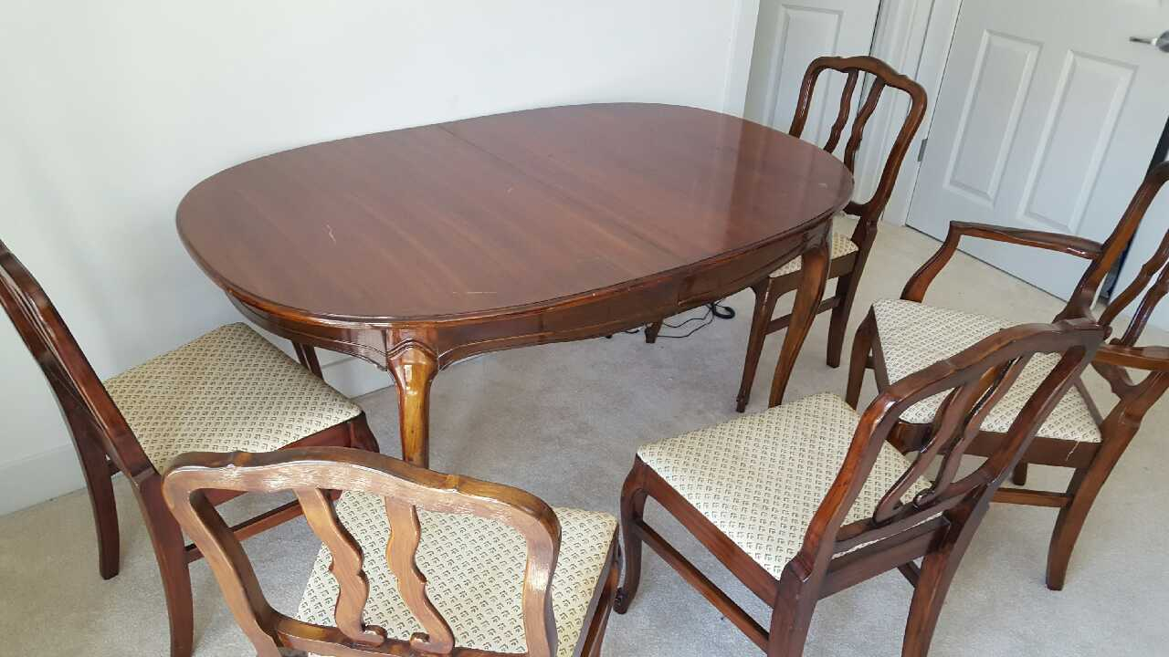 Letgo wood dining table set with chairs in milwaukee wi