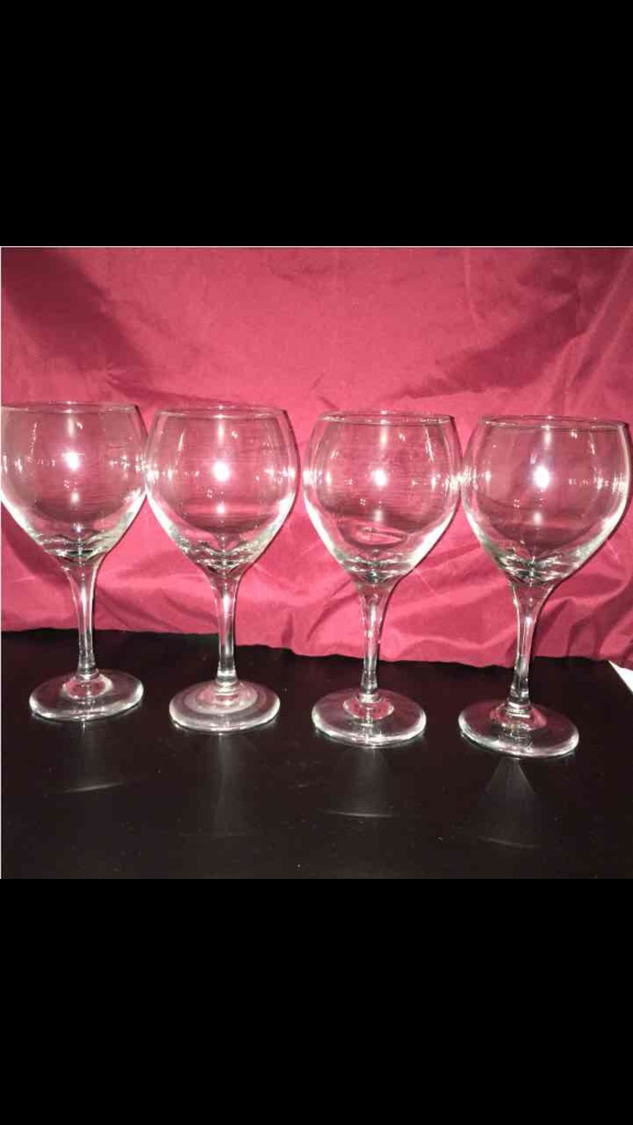 Letgo 4 thick stem heavy wine glasses in irvine ca - Wine glasses with thick stems ...