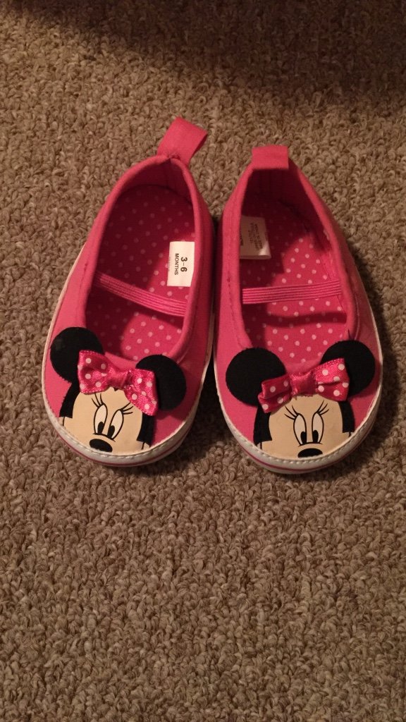 letgo minnie mouse slip on shoes in cheshire oh