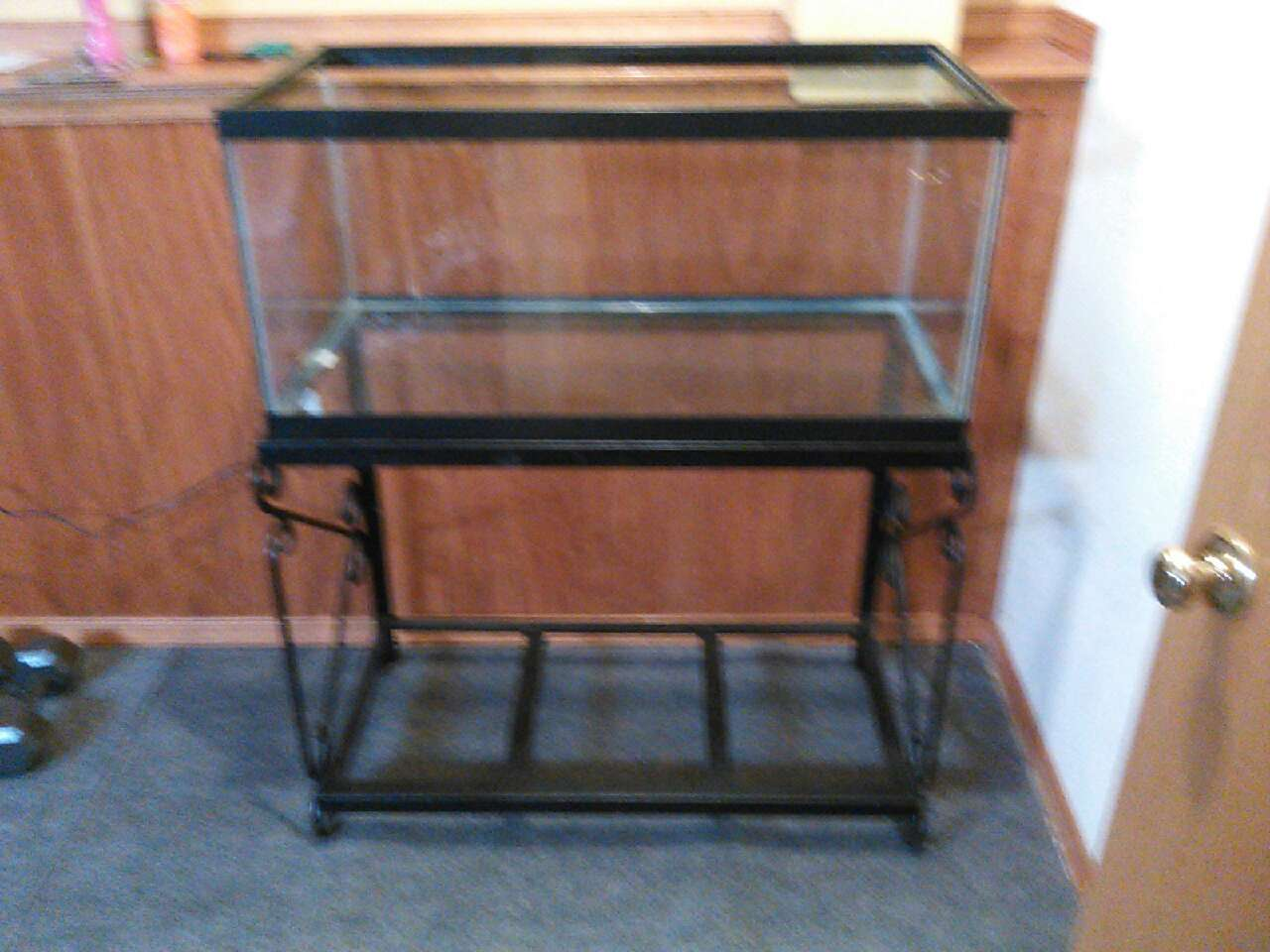 Letgo 40 gal breeder fish tank and doub in rockford il for Double fish tank stand