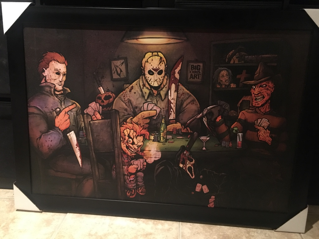 freedie kruger jason chucky painting