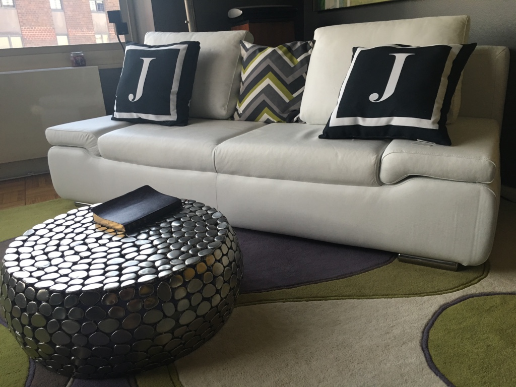 Letgo leather sofa bed in new york ny for Sofa bed nyc