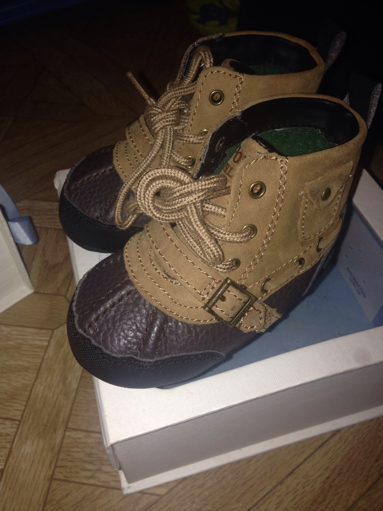 Used crib for sale in nj - Tan Polo Boot Crib Shoes Size 4 Never Worn