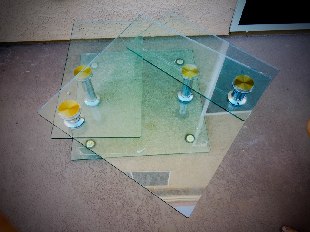 Letgo Rotating Glass Coffee Table In Arden Nv