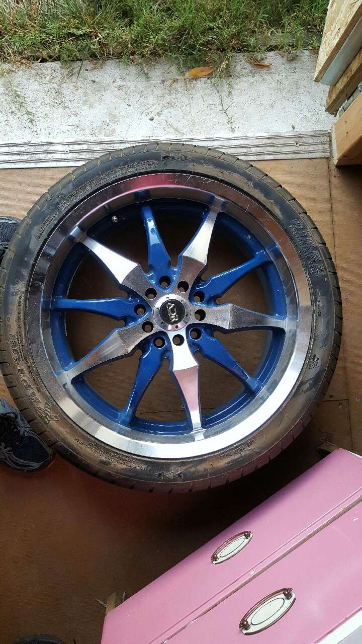 Letgo adr design rims with tires in woodland ca for Woodland motors used cars