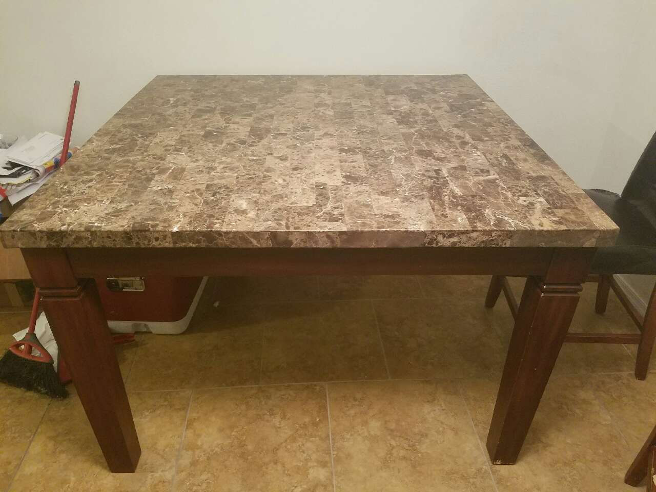Solid Marble Dining Table Letgo Beautiful Heavy And Solid Marble In