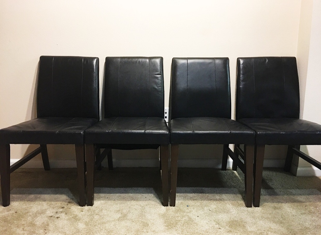 home nevada arden other 4 black leather dining room chairs