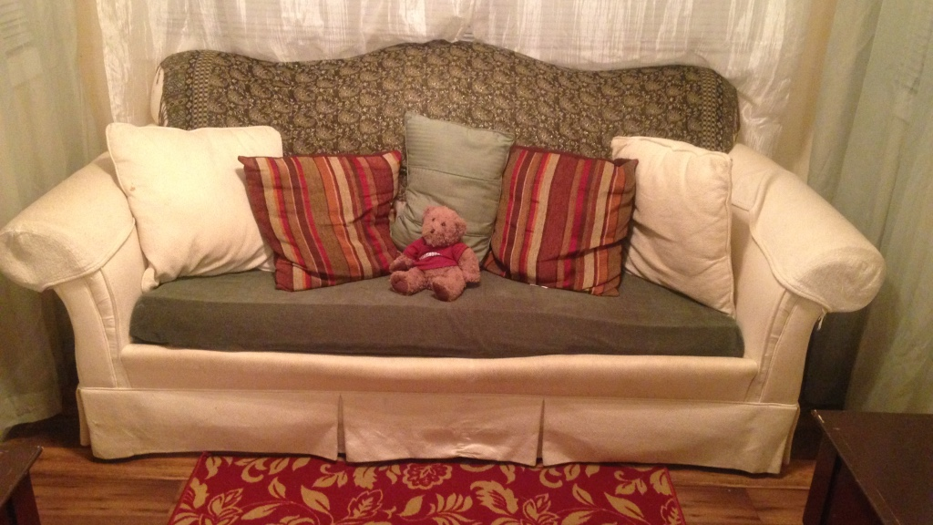Letgo Tan Couch With Full Sized Bed M In Rockbridge Ga