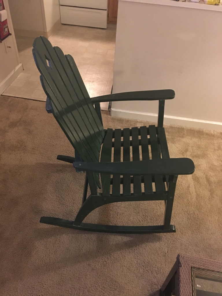 New york clifton park home and garden green solid wood rocking chair