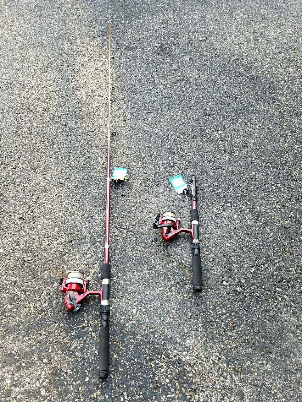 Letgo black and red fishing rod in west middletown oh for Red fishing rod