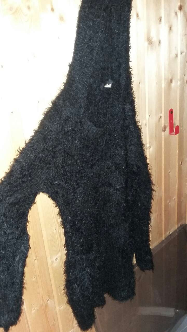 soft fluffy sweater with hood size s