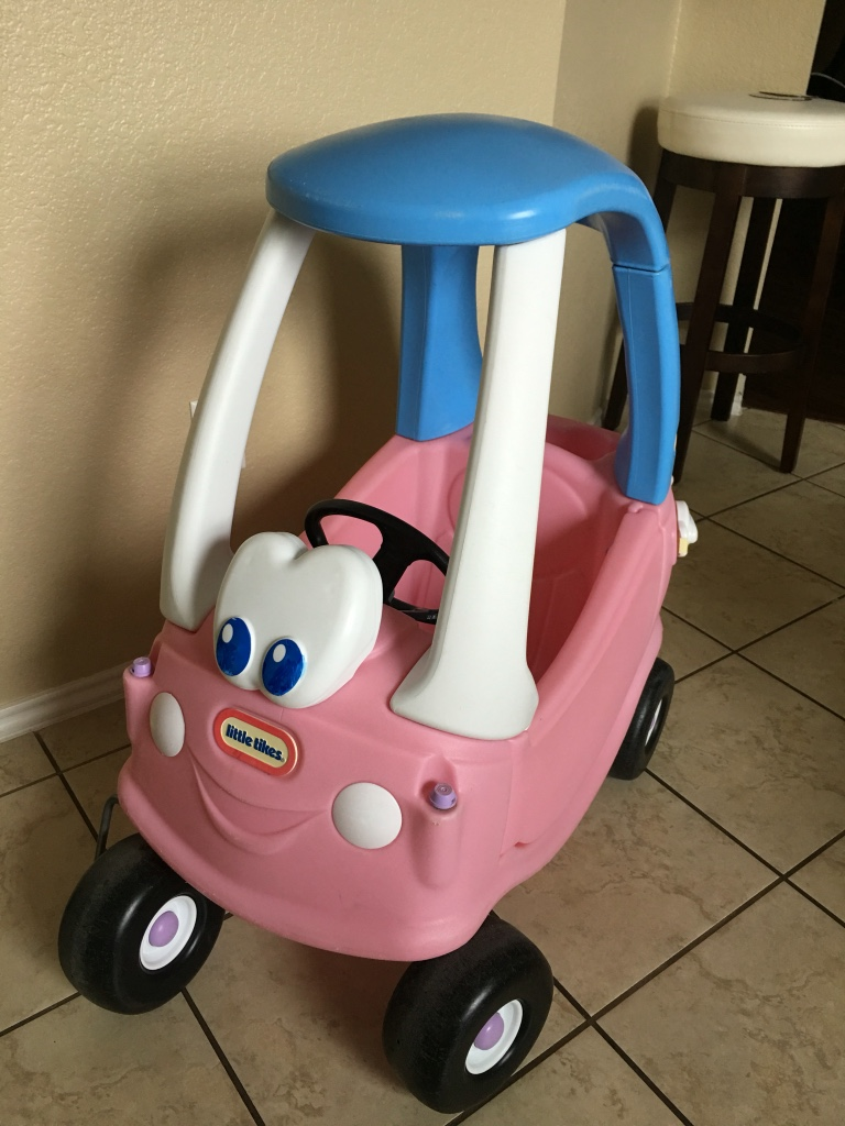 Letgo little tikes blue and pink cozy coupe in topsey tx - Little tikes cozy coupe pink ...