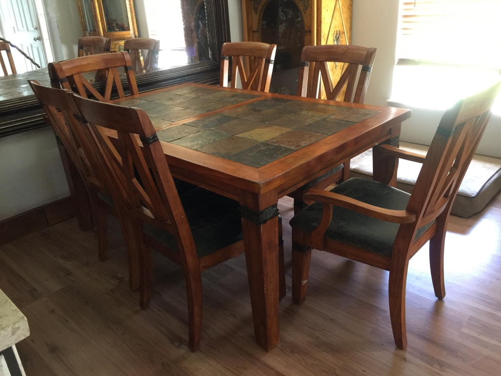 Letgo Slate Wood Dining Room Table In Ocala Fl