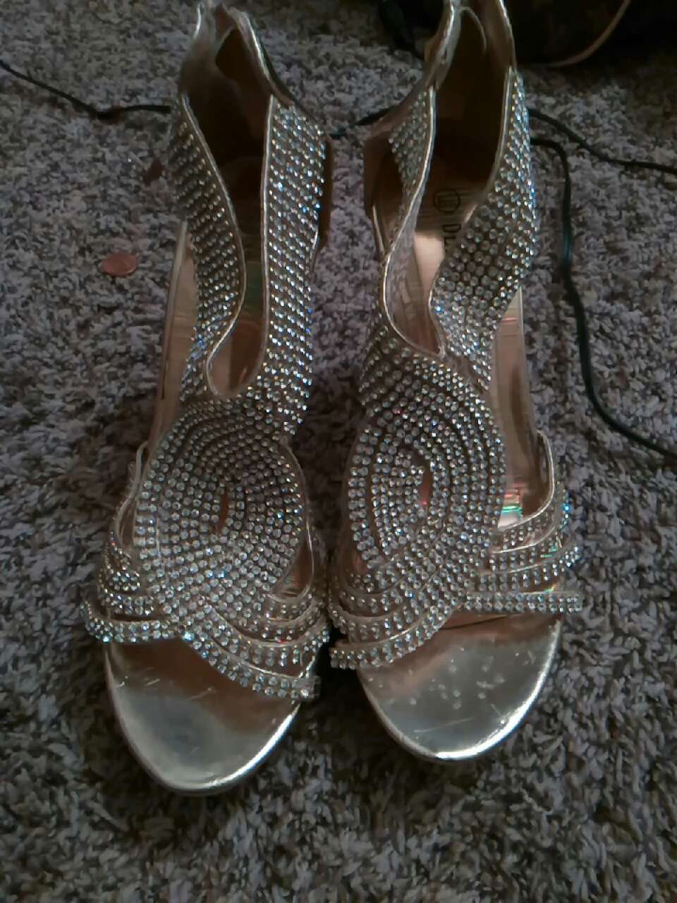 Gold And Diamond Studded Open Toe... In Midland, TX