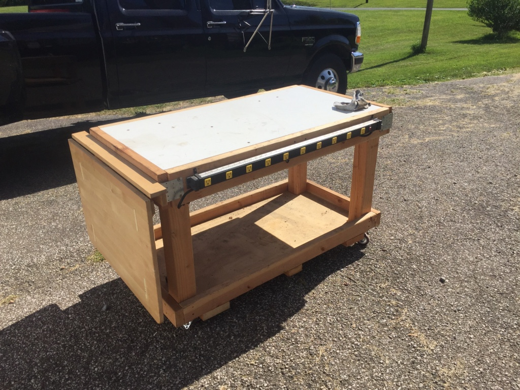 Letgo Rolling Work Bench With Power Strip In Bath Oh