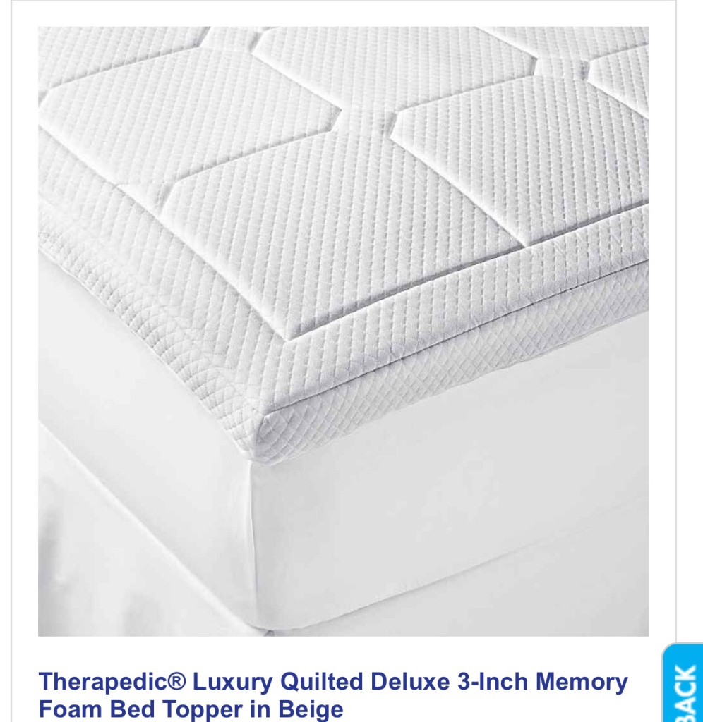 Letgo Therapedic 3inch Queen Mattress T In Modesto Ca