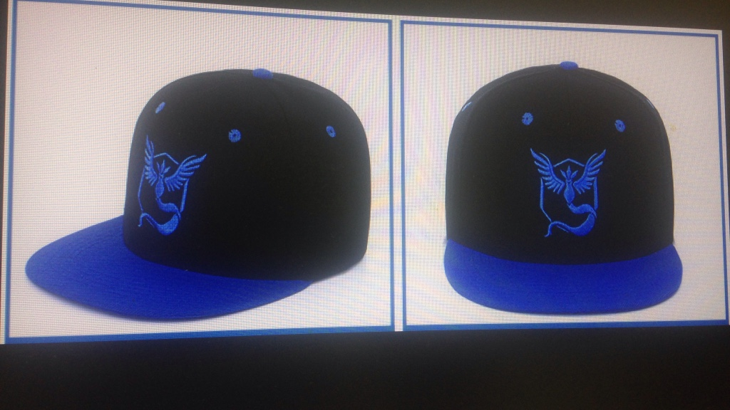 blue and black team mystic cap