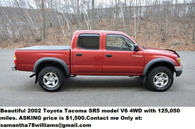 letgo toyota tacoma sr5 model v6 4wd 2002 in milwaukee wi. Black Bedroom Furniture Sets. Home Design Ideas
