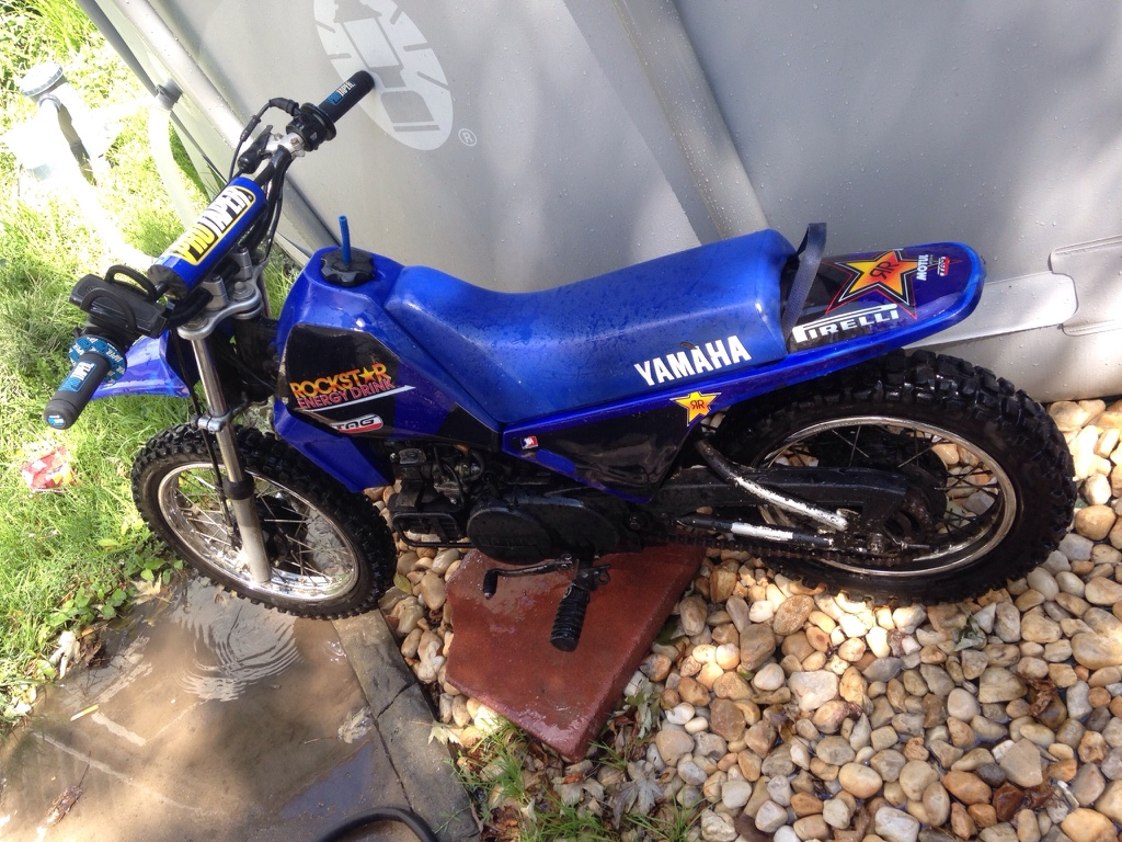 Letgo blue yamaha mini dirt bike in town of tonawanda ny for Yamaha mini dirt bikes