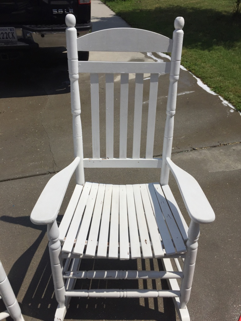Home Virginia Midlothian Other 2 White Wooden Rocking Chairs
