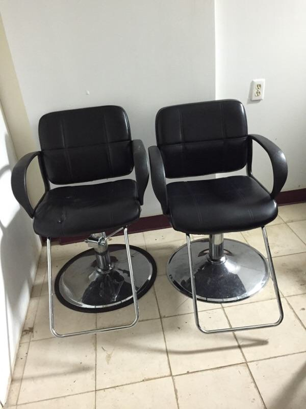 home new york ozone park home and garden black leather salon chair