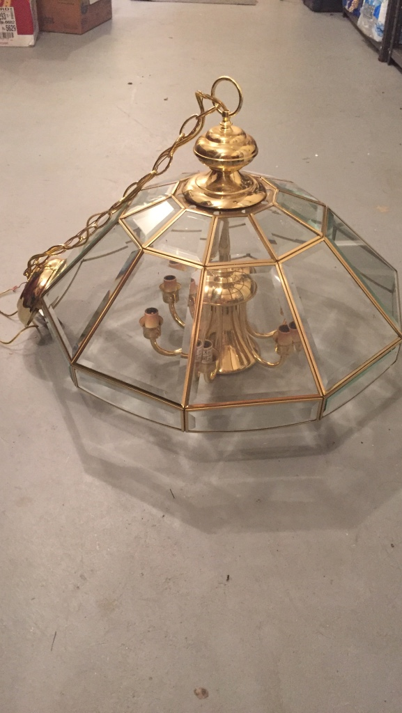 how to clean old brass light fixtures