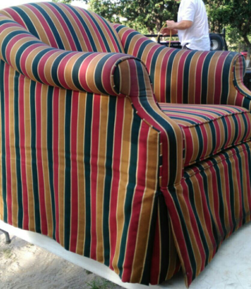 Used crib for sale houston - Red Green And Yellow Strip Velvet Armchair