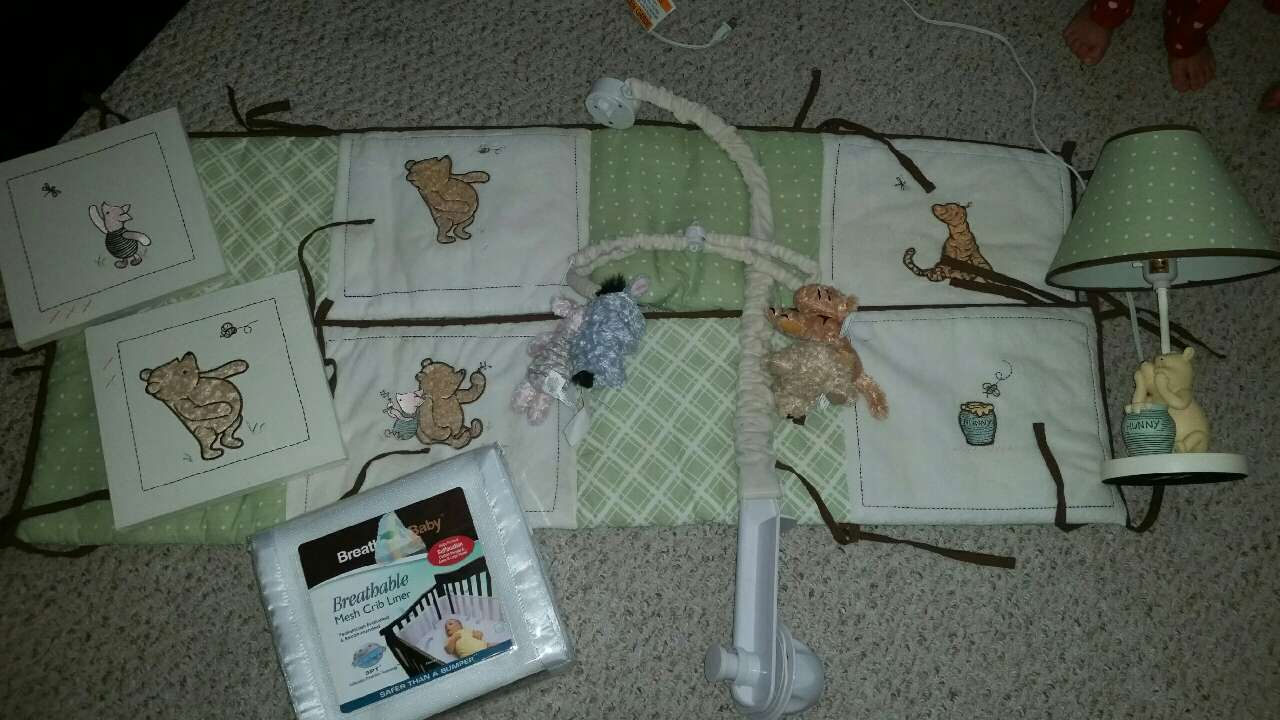 Used crib for sale in nj - Winnie The Pooh Vintage Baby Crib Set