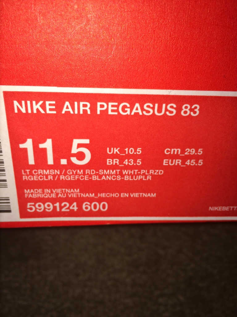 Grovetown (GA) United States  city photo : Description I have a pair of Nike Air Pegasus vintage style. Tomato ...