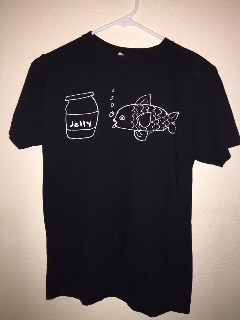 Letgo black white fish jelly pr in hacienda heights ca for Fishing shirt of the month