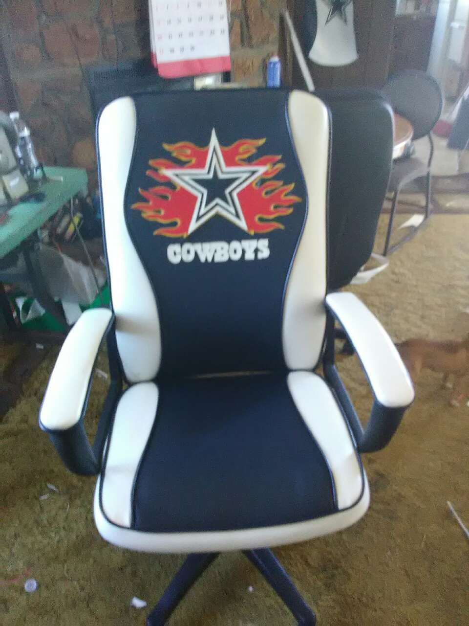 Used crib for sale dallas - White Blue Dallas Cowboys Print Office Rolling Chair
