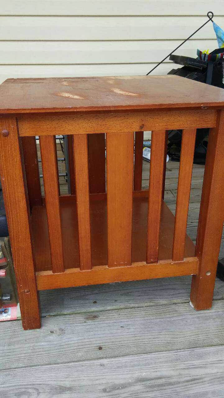 Letgo 1 end table in olde farm nc for End tables for sale near me