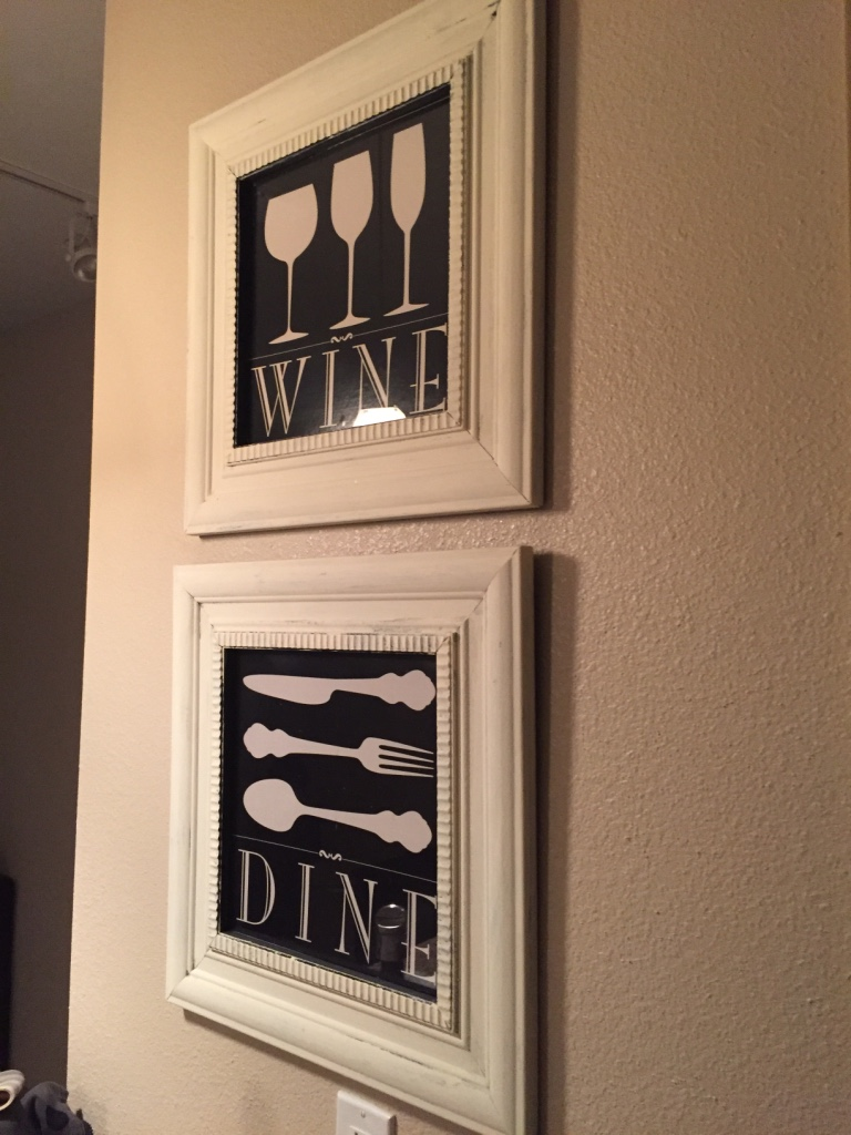 Black And White Wine Wall Decor : Letgo vintage white framed wall art in atlantic beach fl