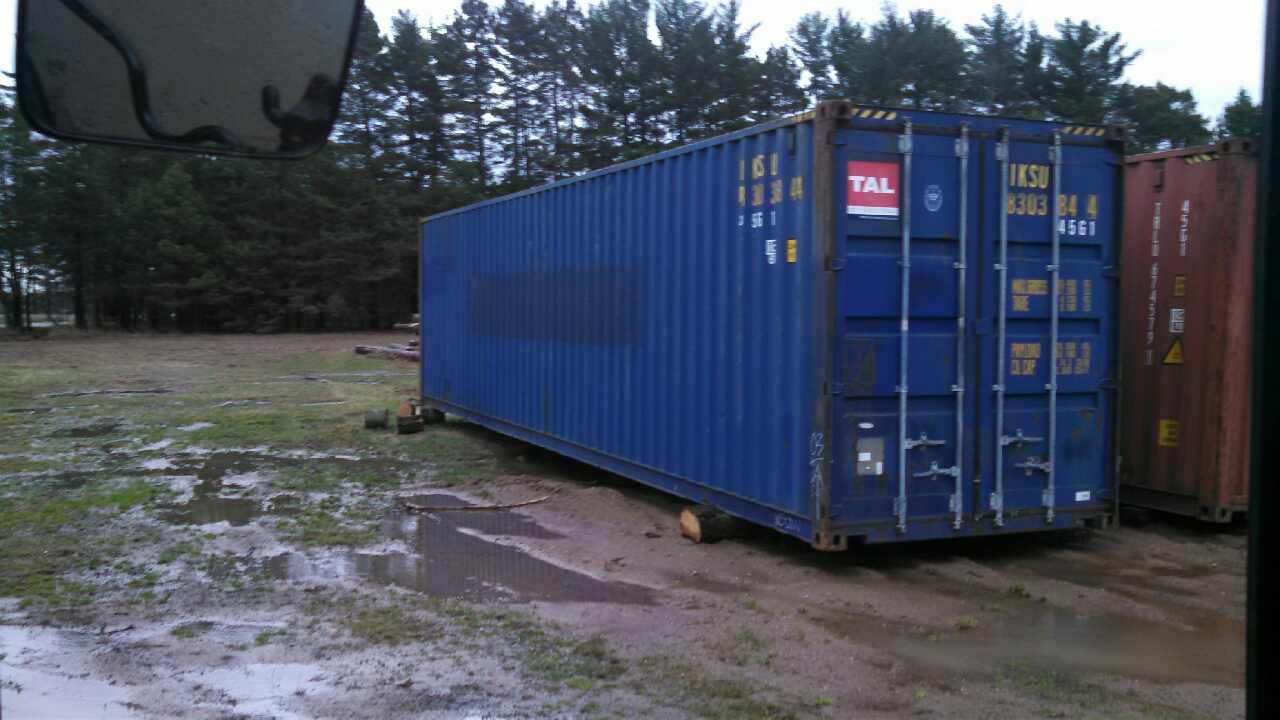 letgo shipping containers steel 40 in three lakes wi. Black Bedroom Furniture Sets. Home Design Ideas