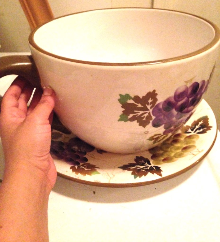 Letgo Giant Tea Cup And Saucer Ceramic P In Phoenix Az