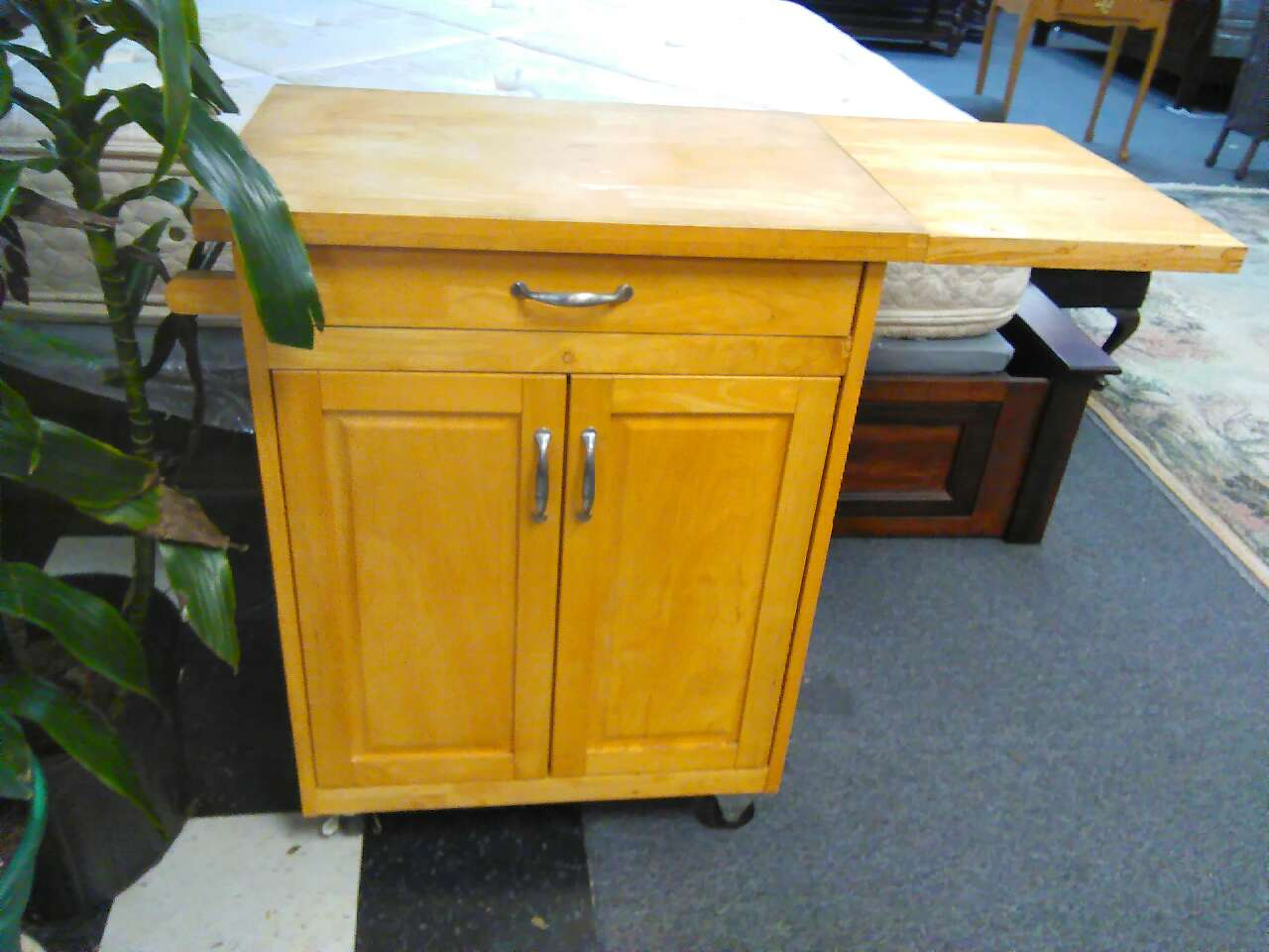 letgo cutting board kitchen island on wheels in alief tx