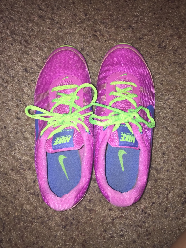 letgo nike shoes pink and green in clinton nj