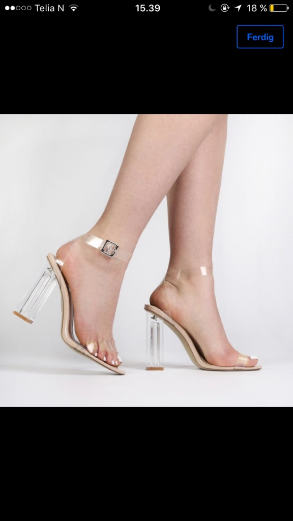 Clear block heels  - kr 500