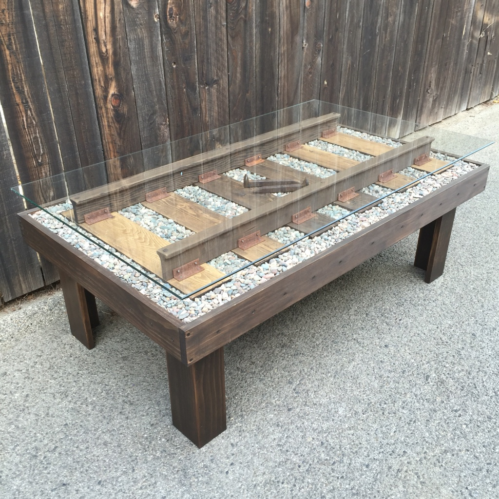 West Toluca Lake Home And Garden Train Track Coffee Table Bmtmade