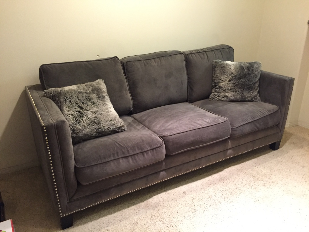 Letgo urban home grey studded couch in arco station ca for Studded couch
